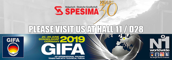 SPESIMA GmbH at 14th International Foundry Trade Fair GIFA 2019