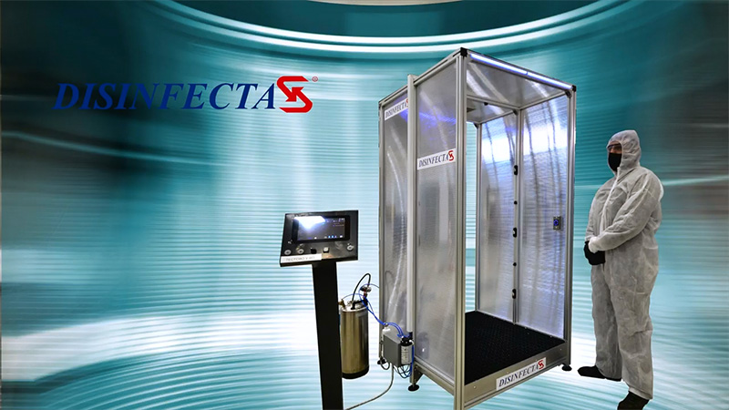 SPESIMA Engineering developed Automated Human Disinfection System DISINFECTA